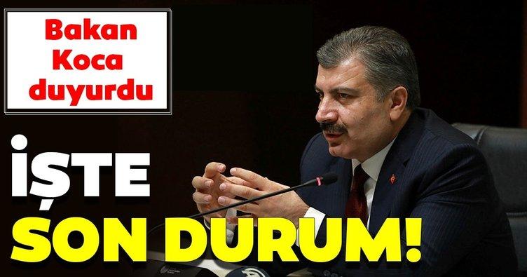 Son dakika: İşte Türkiye'de coronavirüs vakalarında son durum! Bakan Koca son vakaları duyurdu!