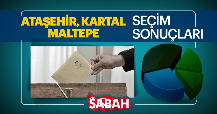 Ataşehir, Kartal ve Maltepe seçim sonuçları canlı olarak takip et! 31 Mart 2019 Ataşehir, Kartal ve Maltepe seçim sonucu