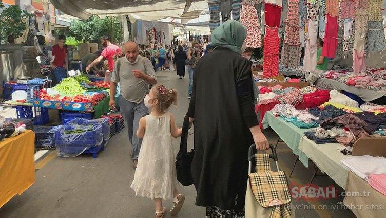 Kadıköy semt pazarlarında maske takma zorunluluğu ihlal ediliyor!