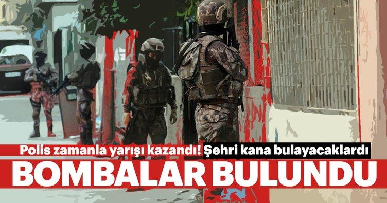 Polise saldırmak için hazırlanan bombalar ele geçirildi!