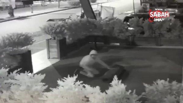 Halıyı çalan hırsız ilginç görüntüler oluşturdu | Video