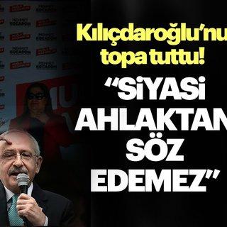 Kemal Kılıçdaroğlu siyasi ahlaktan söz edemez