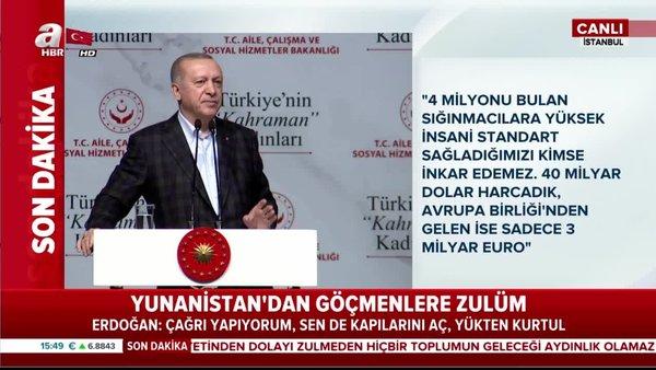 Cumhurbaşkanı Erdoğan'dan 'Türkiye'nin Kahraman Kadınları' programında önemli açıklamalar | Video