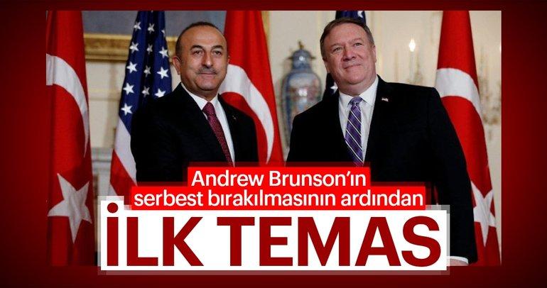 Son dakika: Mevlüt Çavuşoğlu ABD'li mevkidaşı Pompeo ile görüştü