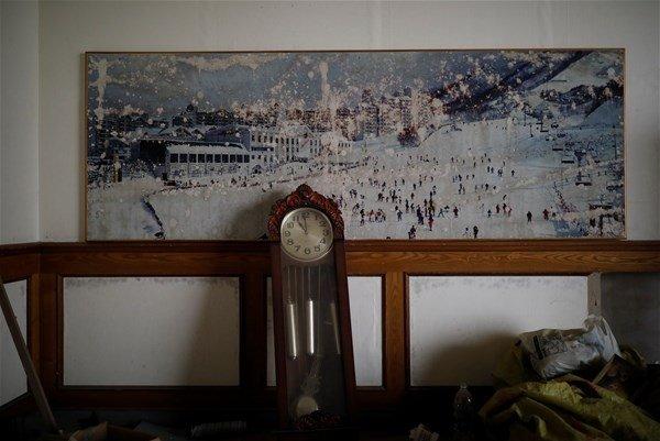 Hayalet kayak merkezinden fotoğraflar