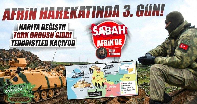 Son dakika: Afrin Harekatında 3.gün!