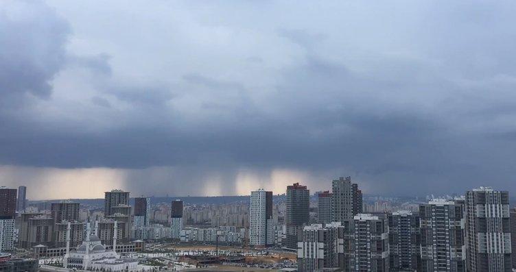 İstanbul'da gökyüzünde inanılmaz anlar! Yağış...
