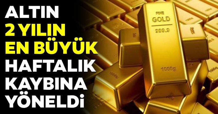 Altın fiyatları 2 yılın en büyük haftalık kaybına yöneldi