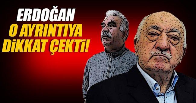Erdoğan: Öcalan buraya teslim edildi, Gülen malum yere gitti