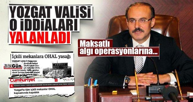 Yozgat Valisi o iddiaları yalanladı