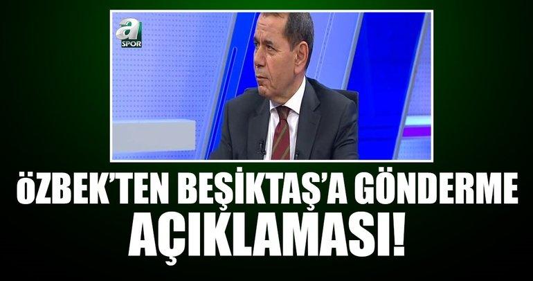 Galatasaray Başkanı Dursun Özbekten Beşiktaşa gönderme açıklaması