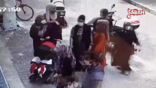 Kapkaççılar hamile kadının cüzdanını böyle çaldı | Video