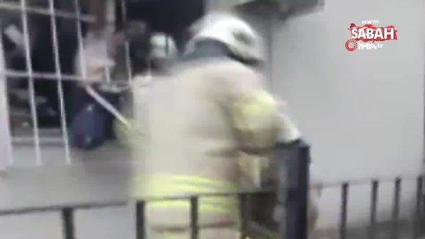 Güngören'de ölümden son anda kurtuluş kamerada | Video