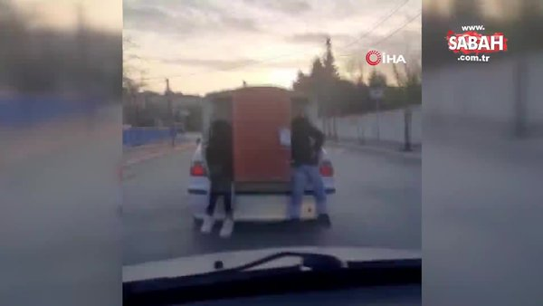 Arnavutköy'de pes dedirten varil taşımacılığı tehlike saçtı | Video