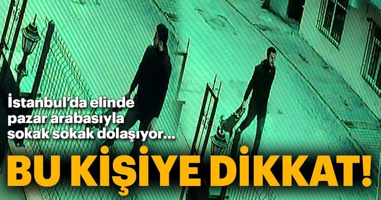 İstanbul'da pazar arabasıyla sokaklarda dolaşan bu kişiye dikkat!