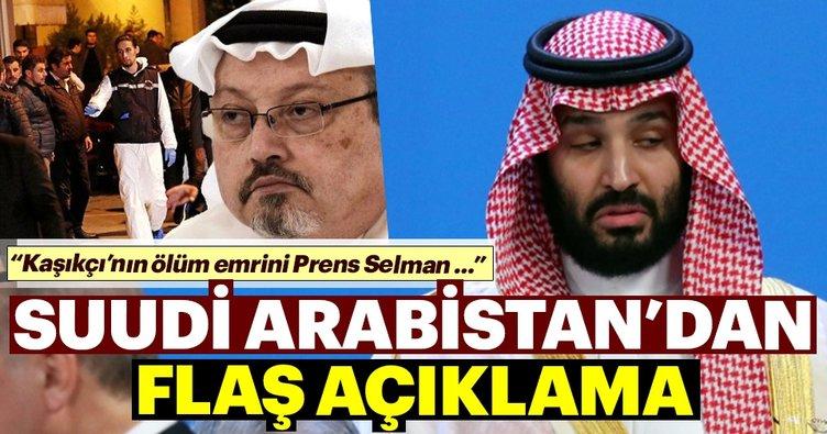 Suudi Arabistan'dan flaş Kaşıkçı açıklaması