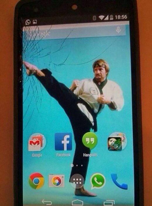 Ekranı çatlayan telefonlar için ilginç çözüm