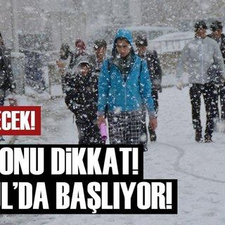 Meteoroloji'den son dakika kritik hava durumu uyarısı! İstanbul'da kar başlıyor!