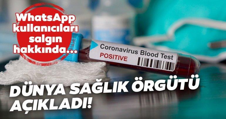 Dünya Sağlık Örgütü WhatsApp'tan COVID-19 vaka sayılarını gösteriyor!