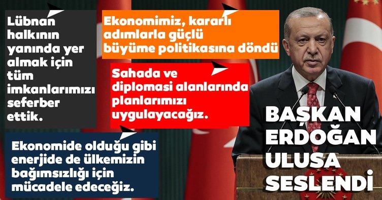 SON DAKİKA: Başkan Erdoğan Kabine Toplantısı'nın ardından konuştu! Kritik Doğu Akdeniz mesajı