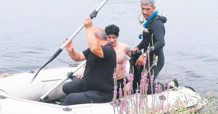 Yüzmek için nehre giren genç boğulmaktan kurtarıldı
