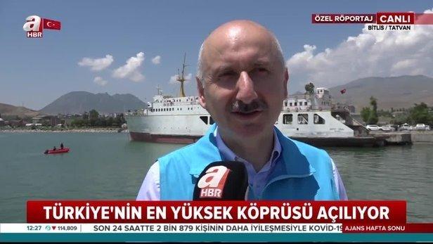 Ulaştırma ve Altyapı Bakanı Karaismailoğlu'den Beğendik Köprüsü açıklaması!