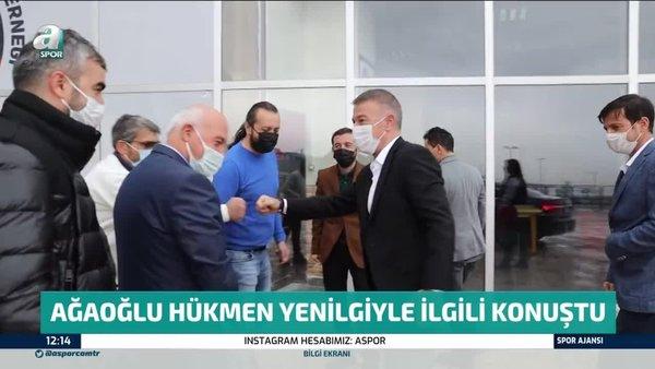 Trabzonspor Başkanı Ahmet Ağaoğlu hükmen yenilgiyle ilgili konuştu