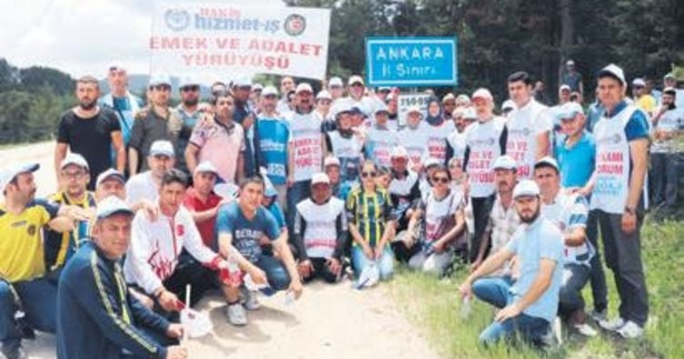 Yürüyen işçiler Ankara'ya ulaştı