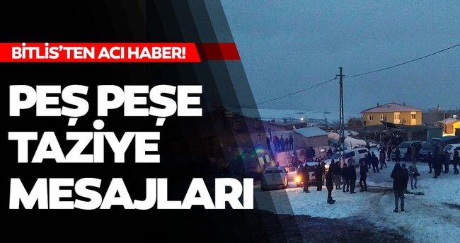 Son dakika: Bitlis'te şehit olan 10 askerimiz için siyasilerden peş peşe taziye mesajları