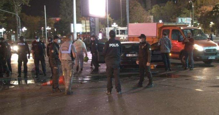Ankara'da kadın sürücü ortalığı birbirine kattı! 3 kişi yaralı