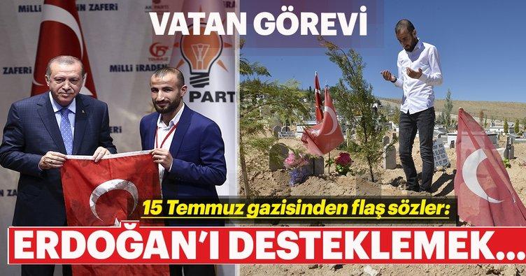 15 Temmuz'da vatanı tercih ettiğim gibi sandıkta da tercihim Erdoğan