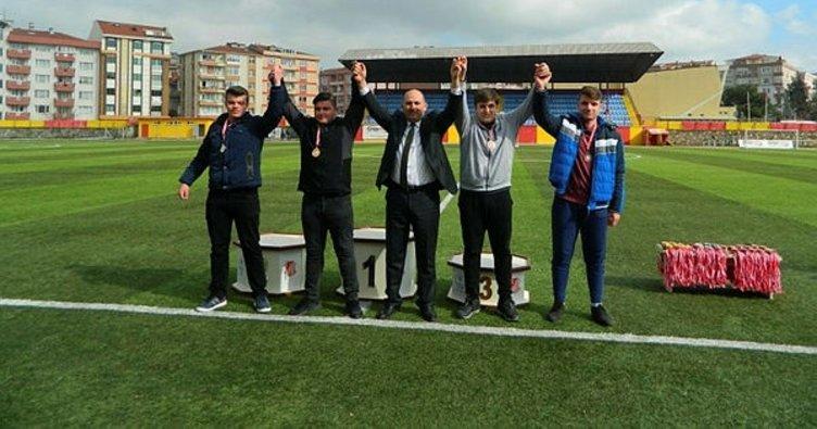 Atletizm il birinciliği müsabakaları Çorlu'da yapıldı