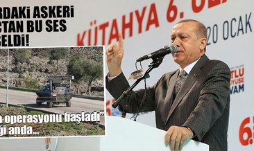 Son Dakika Haberi: Erdoğan, 'Afrin operasyonu başladı' dedi, sınırdaki askeri araçlardan bu sesler yükseldi