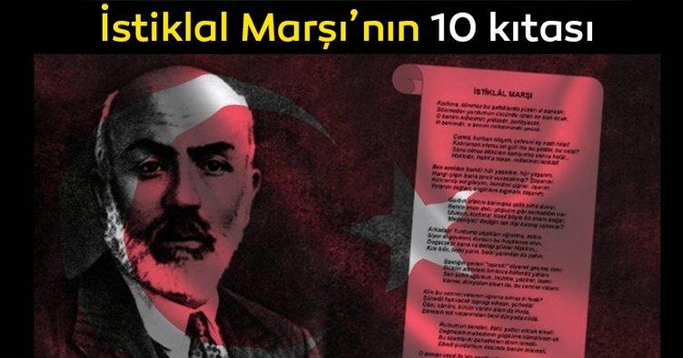 İstiklal Marşı'nın 10 kıtası sözleri! Mehmet Akif Ersoy İstiklal Marşı 10 kıtası burada