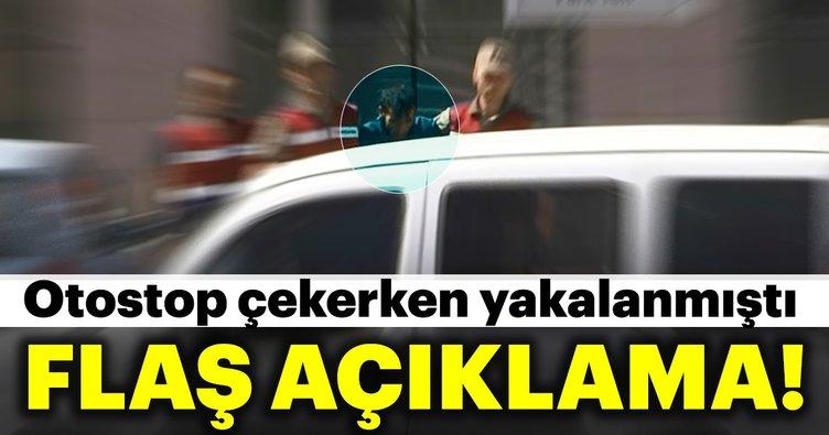 Son dakika: Otostop yaparken yakalanan PKK'lı ile ilgili açıklama