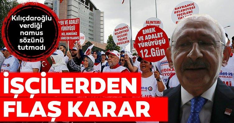 CHP'nin mağdur ettiği işçilerden açlık grevi