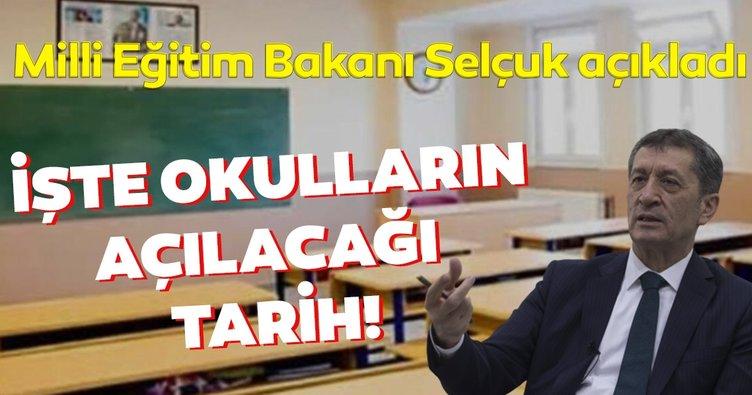 SON DAKİKA HABERİ! Okullar ne zaman açılacak?  Bilim Kurulu toplantısı sonrası Bakan Ziya Selçuk okulların açılış tarihini açıkladı