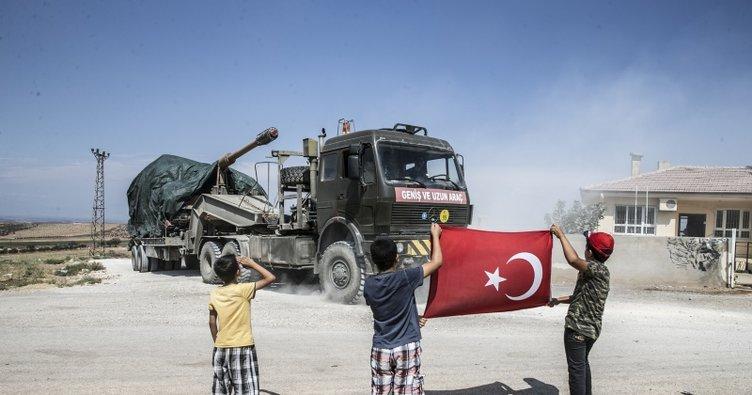 Obüs ve tanklar Suriye sınırında
