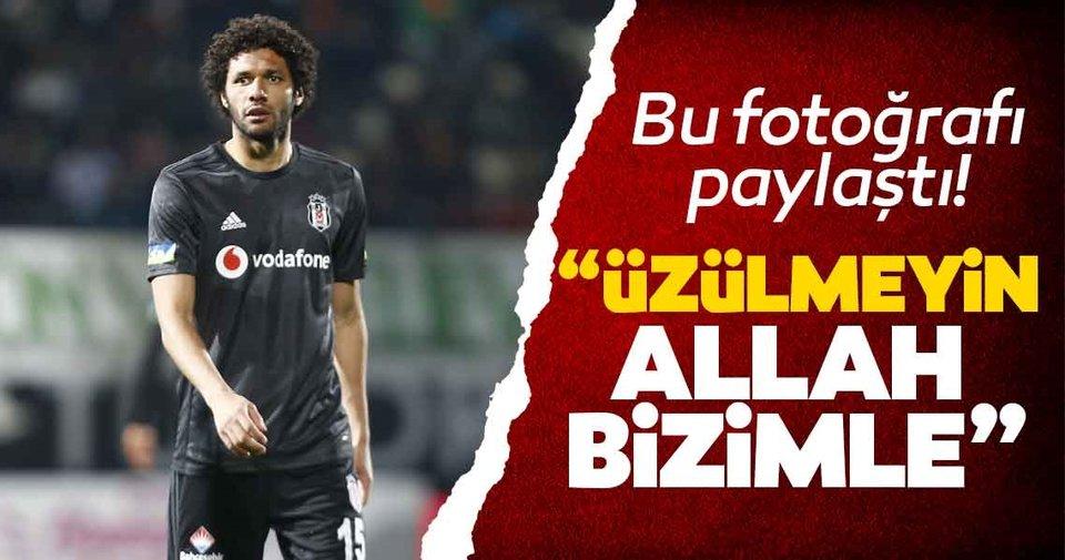 Beşiktaşlı Elneny'den mesaj: 'Üzülmeyin Allah bizimle'