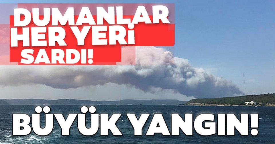 Son dakika: Çanakkale'de büyük yangın! Dumanlar her yeri kapladı, müdahale sürüyor...