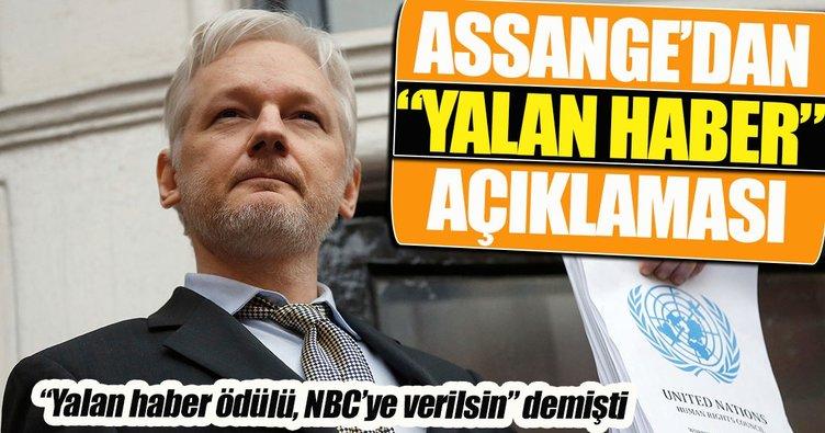 Assange'dan yalan haber açıklaması