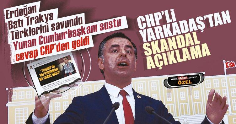 Erdoğan'dan Yunanistan'a Lozan restine Yunanistan sessiz kaldı ses CHP'den geldi