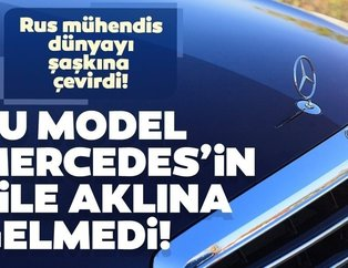 Bu model Mercedes'in bile aklına gelmedi! Rus mühendis...