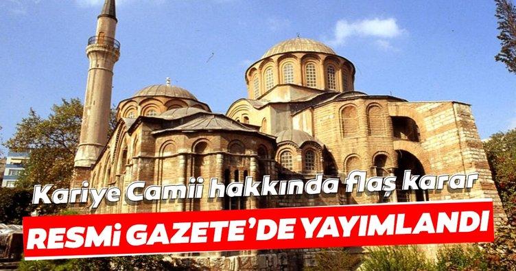 Son dakika: Başkan Erdoğan imzaladı: Kariye Camii ibadete açılıyor! Karar Resmi Gazete'de yayımlandı...