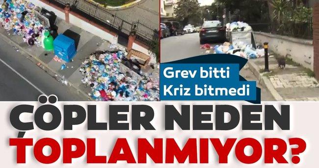 Maltepe'de çöpler neden toplanmıyor? Grev bitti, çöp krizi bitmedi...