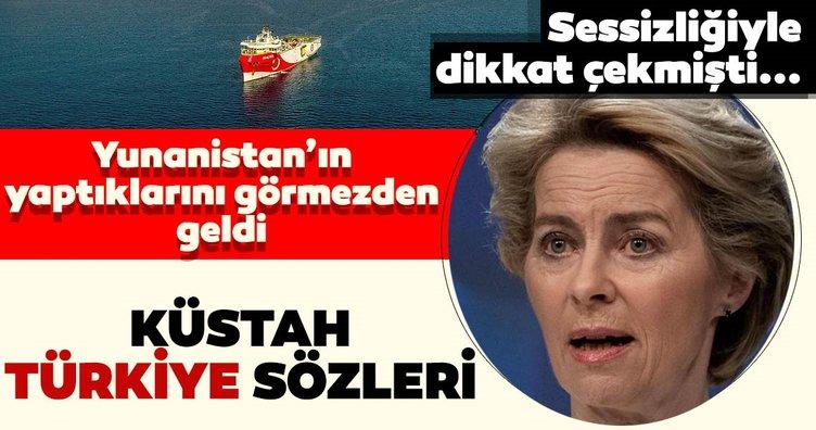 Son dakika: Sessizliği ile dikkat çeken AB Komisyon Başkanı Leyen'den küstah Türkiye sözleri! Yunanistan'ı görmezden geldi