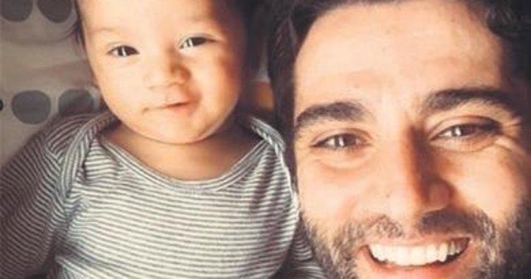Baba ile oğuldan keyifli pazar pozu
