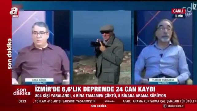 Son dakika! İzmir'deki 6,6'lık deprem dehşetinin canlı yayın görüntüleri | Video