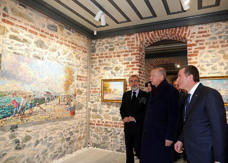 Başkan Erdoğan Selahattin Kara resim sergisi açılış törenine katıldı