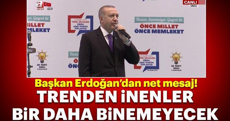 Başkan Erdoğan Ordu'da aday tanıtım toplantısında açıklamalarda bulundu